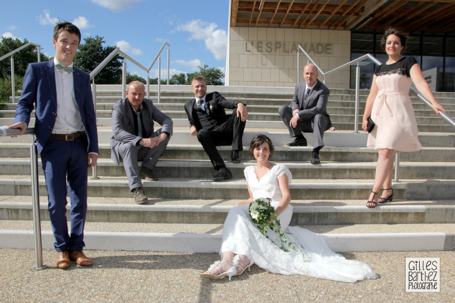photographe mariage photo de groupe originale yrieix charente